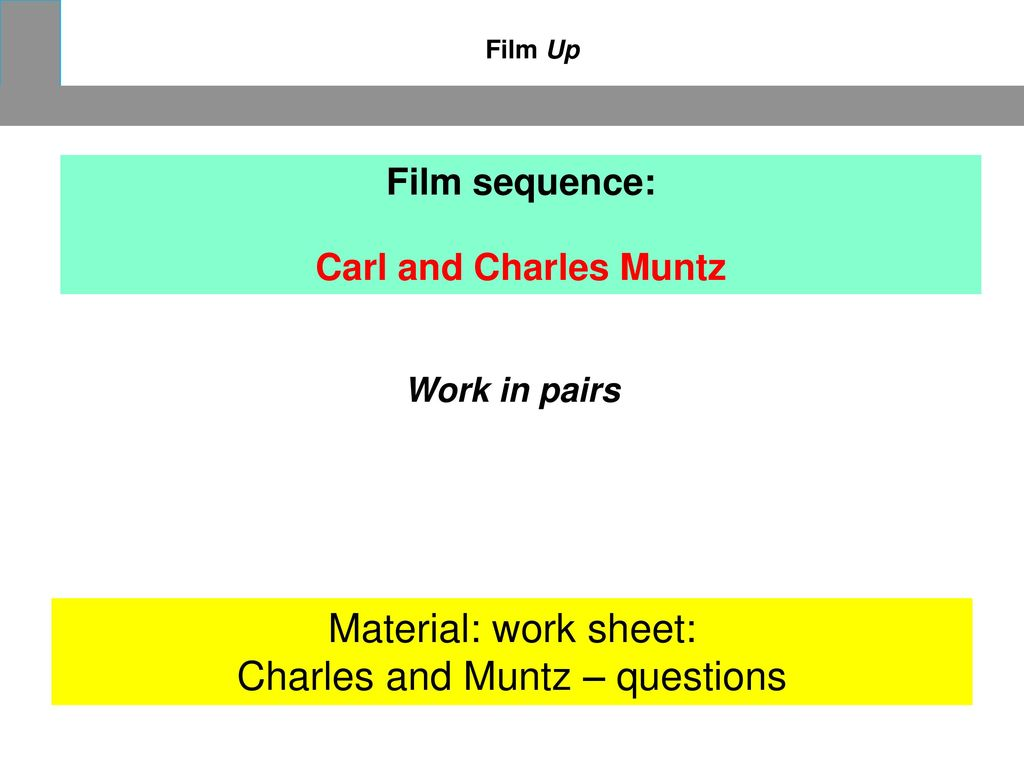 Charles and Muntz – questions
