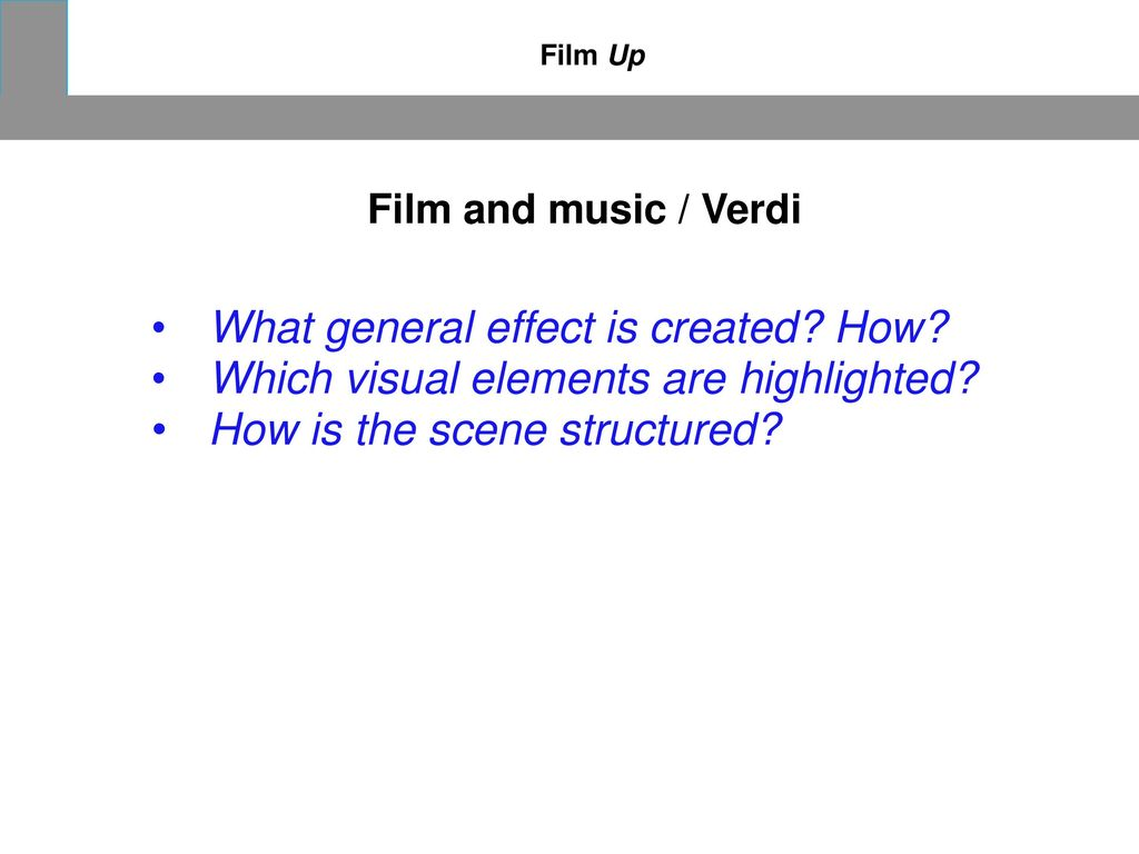 What general effect is created How