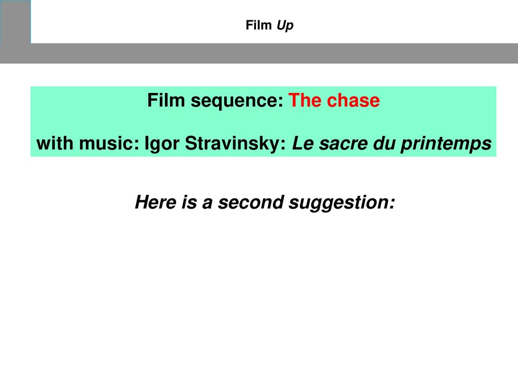 Film sequence: The chase