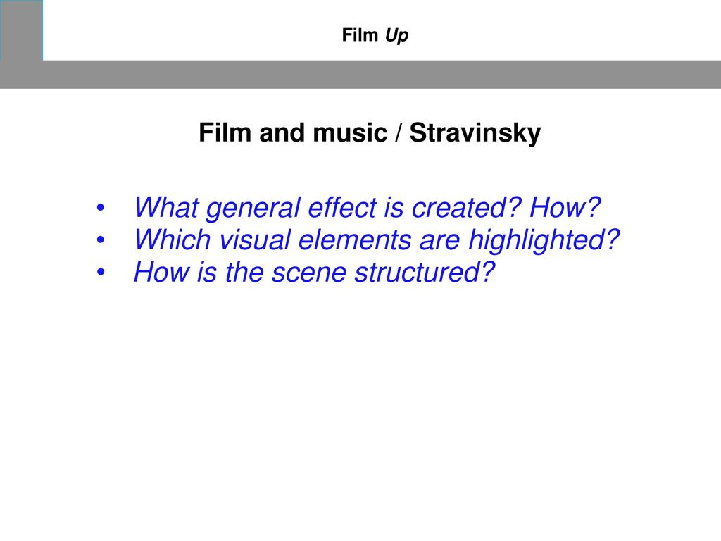 Film and music / Stravinsky