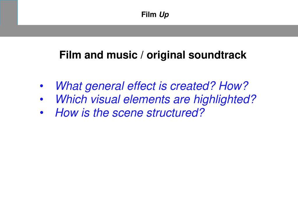 Film and music / original soundtrack