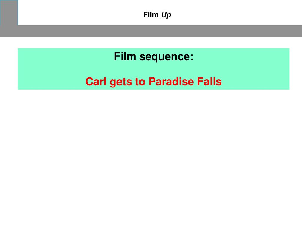 Carl gets to Paradise Falls