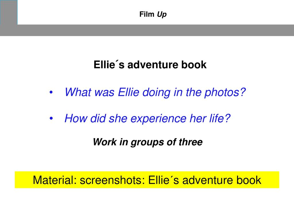 Material: screenshots: Ellie´s adventure book