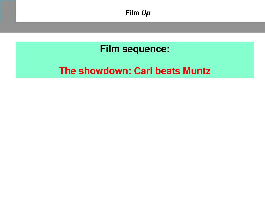 The showdown: Carl beats Muntz
