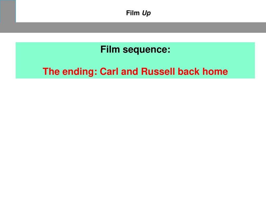 The ending: Carl and Russell back home