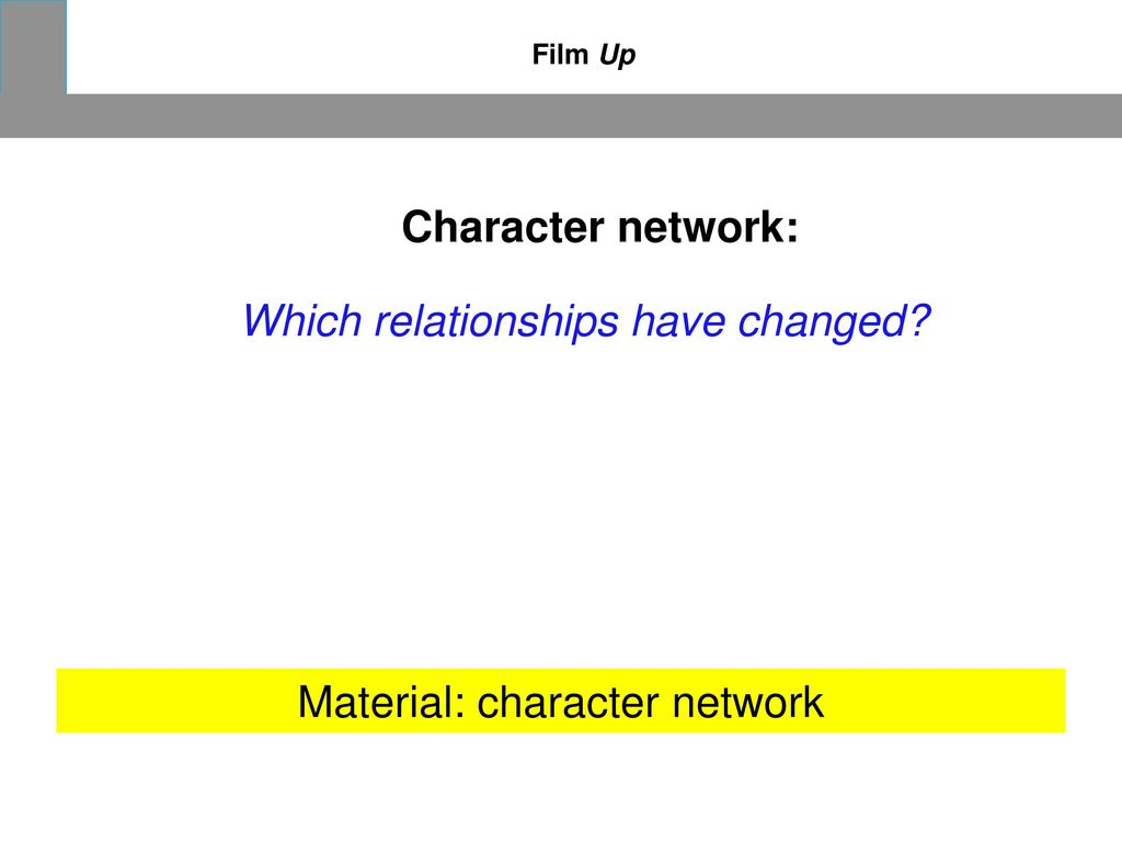 Material: character network