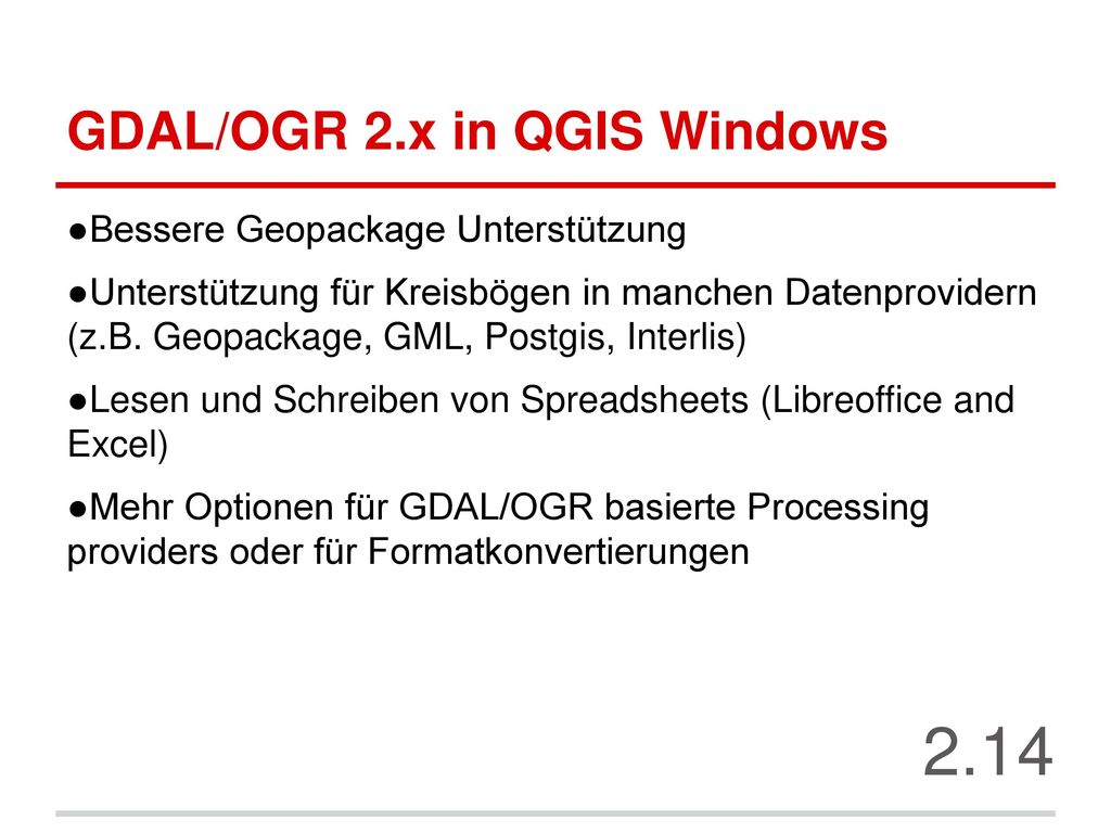 GDAL/OGR 2.x in QGIS Windows