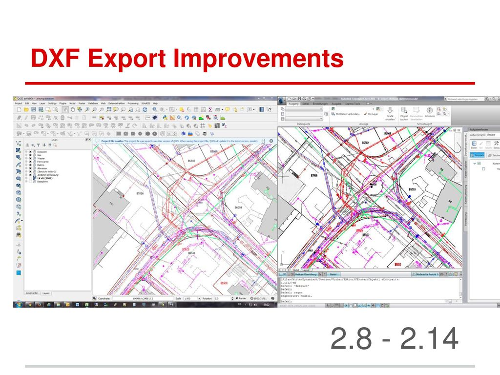DXF Export Improvements