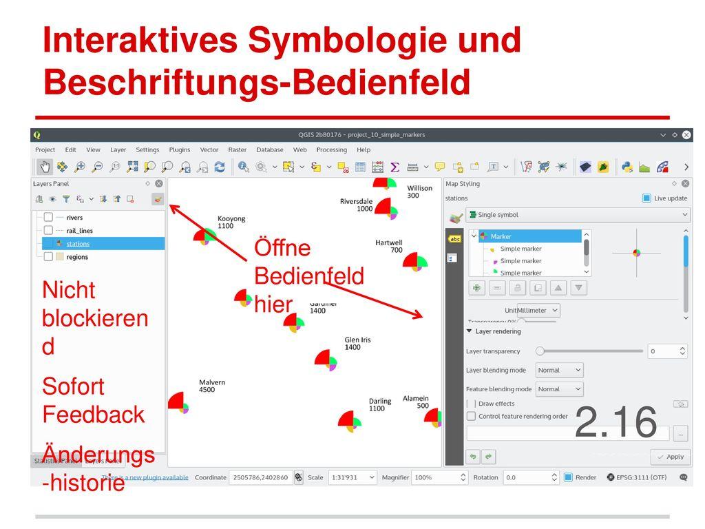 Interaktives Symbologie und Beschriftungs-Bedienfeld