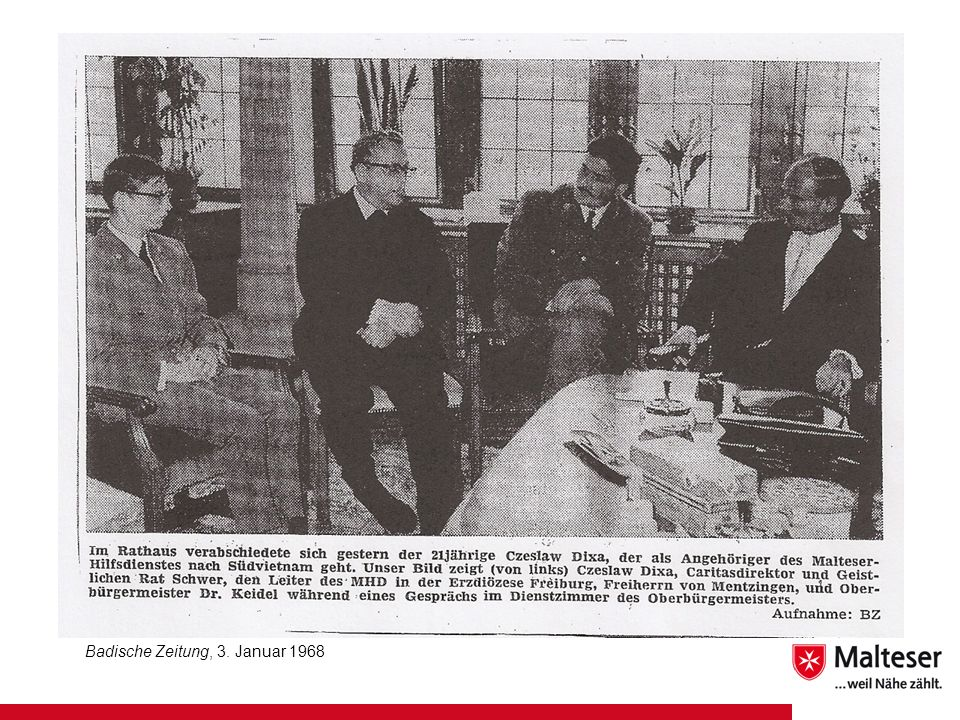 Badische Zeitung, 3. Januar 1968