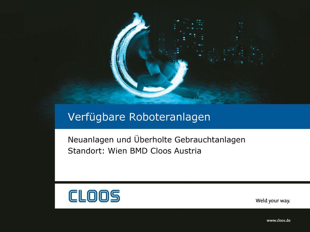 Verfügbare Roboteranlagen
