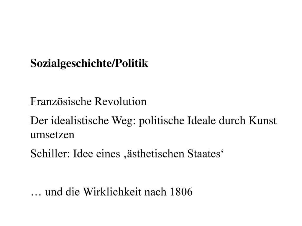 Sozialgeschichte/Politik