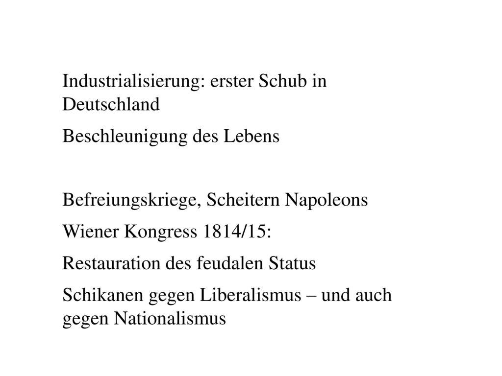 Industrialisierung: erster Schub in Deutschland