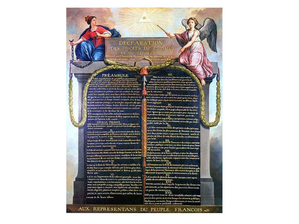Jean-Jacques Francois Le Barbier: Erklärung der Menschen- und Bürgerrechte 1789 (1789, Öl auf L., 71 x 56 cm)
