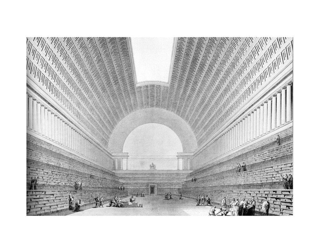 Claude-Nicolas Ledoux: Entwurf für eine Nationalbibliothek (1785)