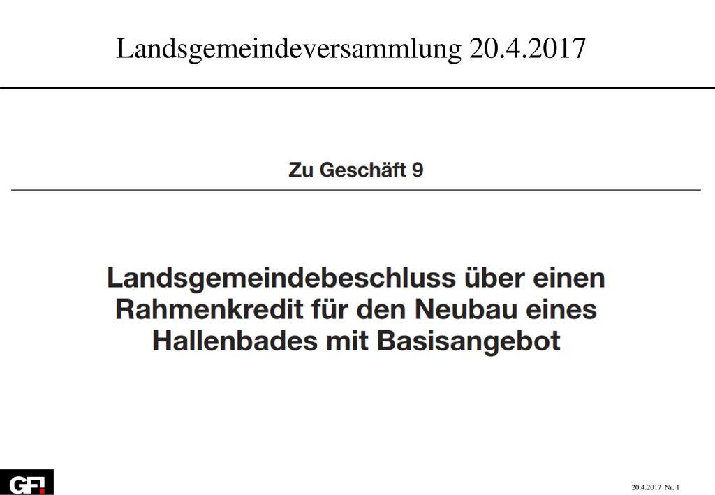 Landsgemeindeversammlung 20.4.2017