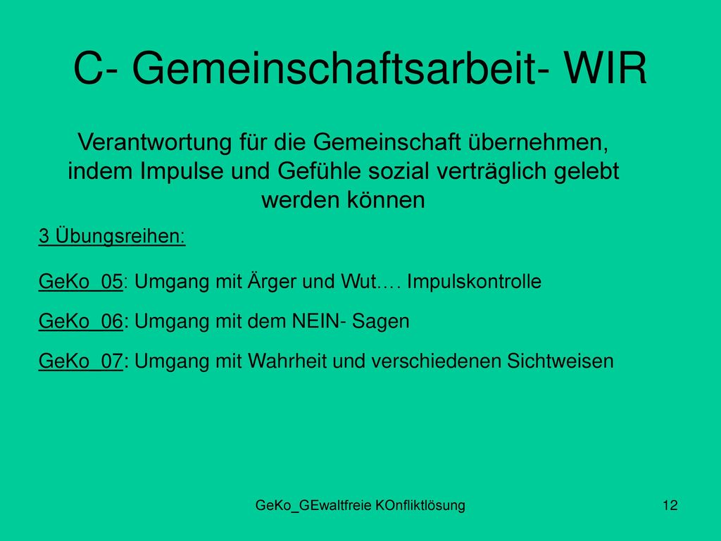 C- Gemeinschaftsarbeit- WIR