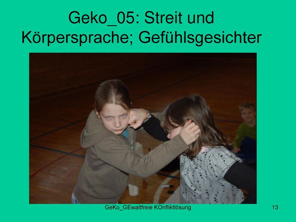 Geko_05: Streit und Körpersprache; Gefühlsgesichter