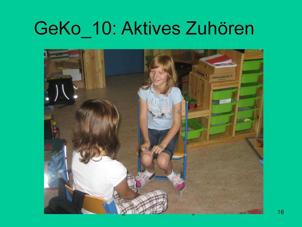 GeKo_10: Aktives Zuhören