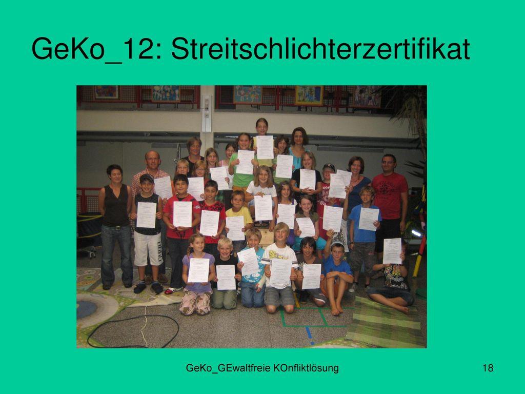 GeKo_12: Streitschlichterzertifikat