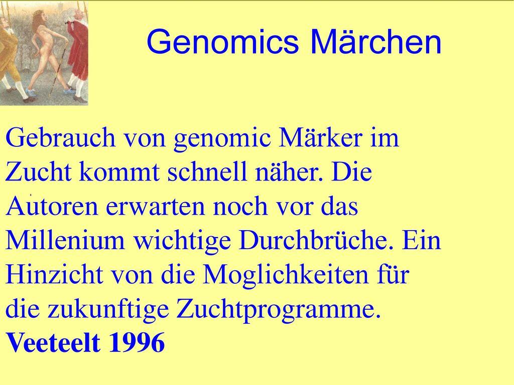 Genomics Märchen