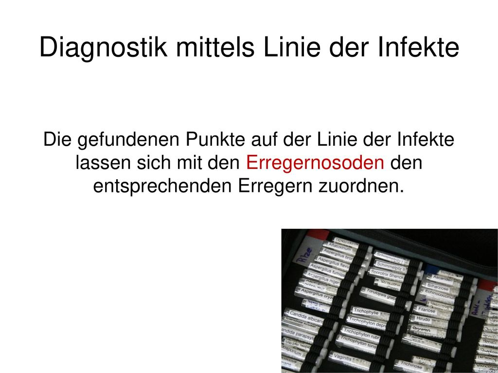 Diagnostik mittels Linie der Infekte