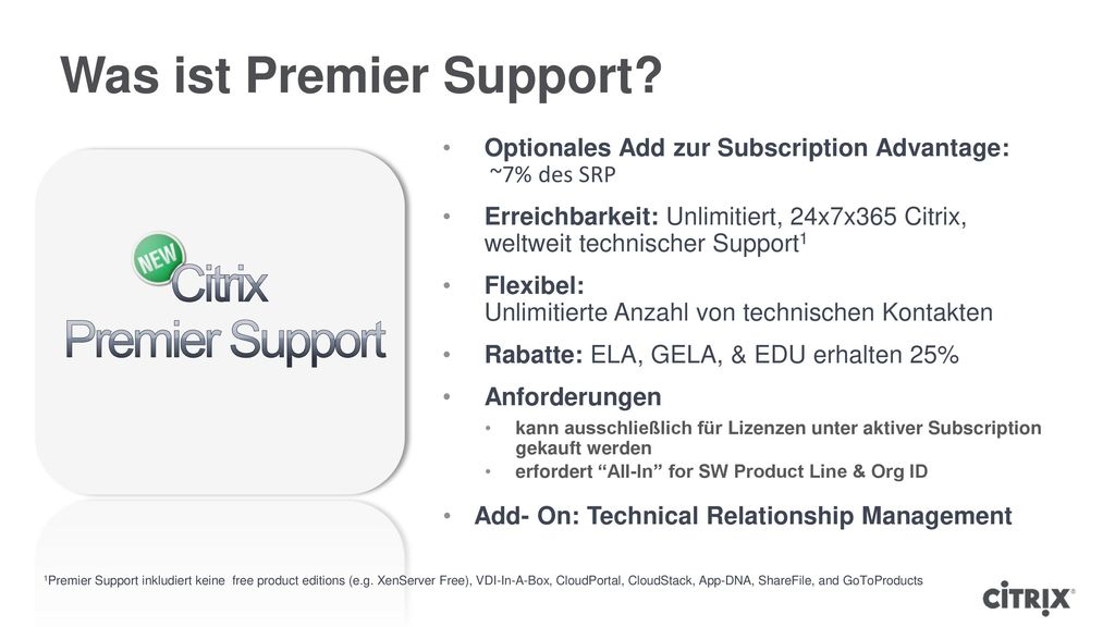 Was ist Premier Support