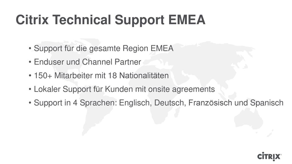 Citrix Technical Support EMEA