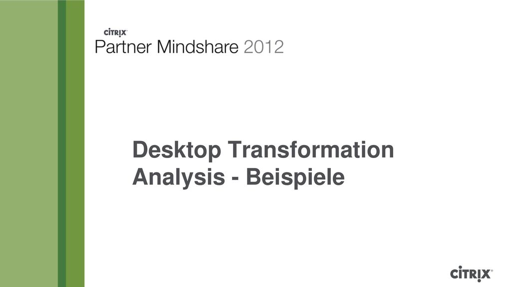 Desktop Transformation Analysis - Beispiele