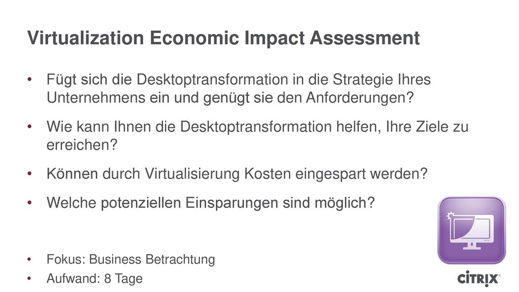 Virtualization Economic Impact Assessment