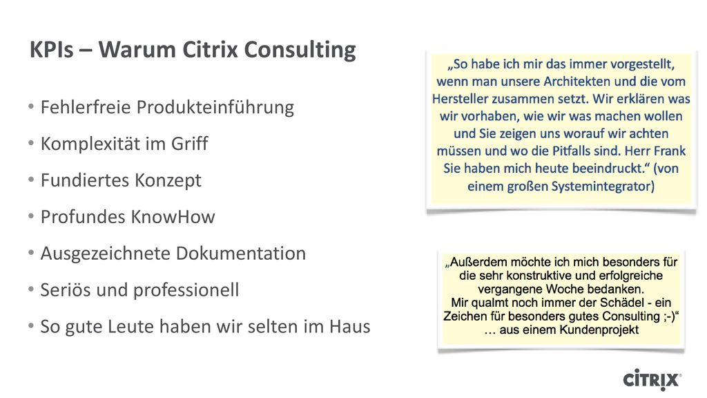 KPIs – Warum Citrix Consulting