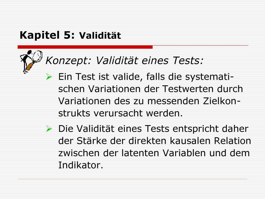 Konzept: Validität eines Tests: