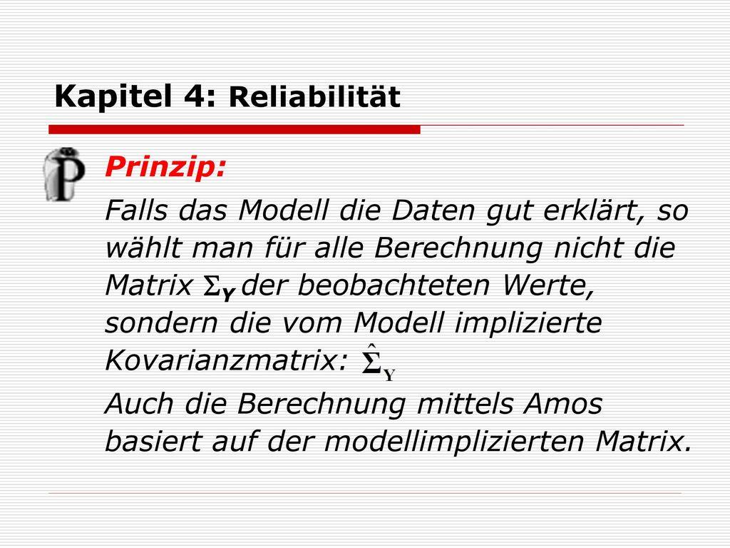 Kapitel 4: Reliabilität