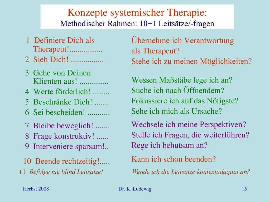 1 Definiere Dich als Therapeut!................
