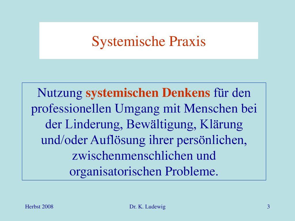 Systemische Praxis