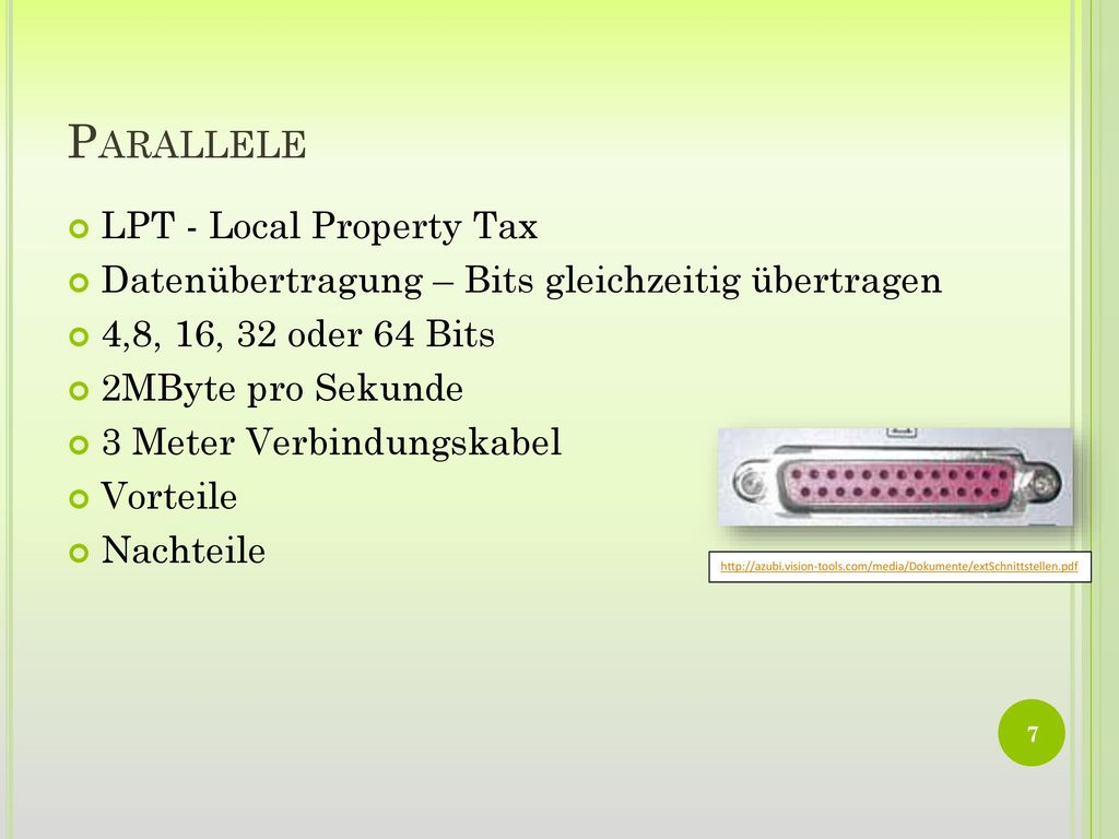 Parallele LPT - Local Property Tax