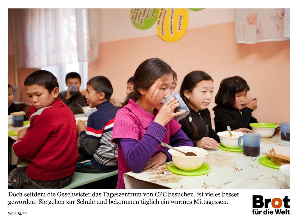 Doch seitdem die Geschwister das Tageszentrum von CPC besuchen, ist vieles besser geworden: Sie gehen zur Schule und bekommen täglich ein warmes Mittagessen.