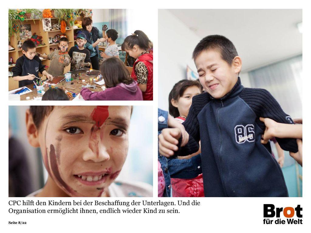 CPC hilft den Kindern bei der Beschaffung der Unterlagen