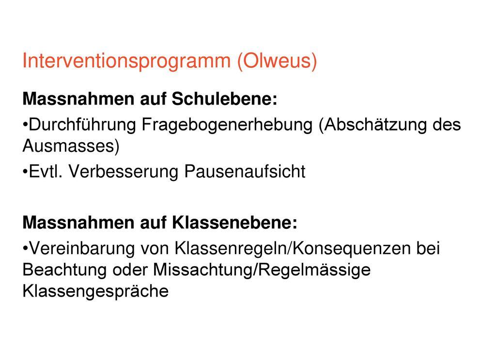 Interventionsprogramm (Olweus)