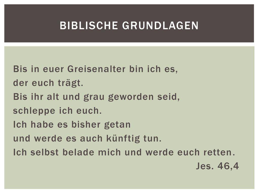 Biblische Grundlagen