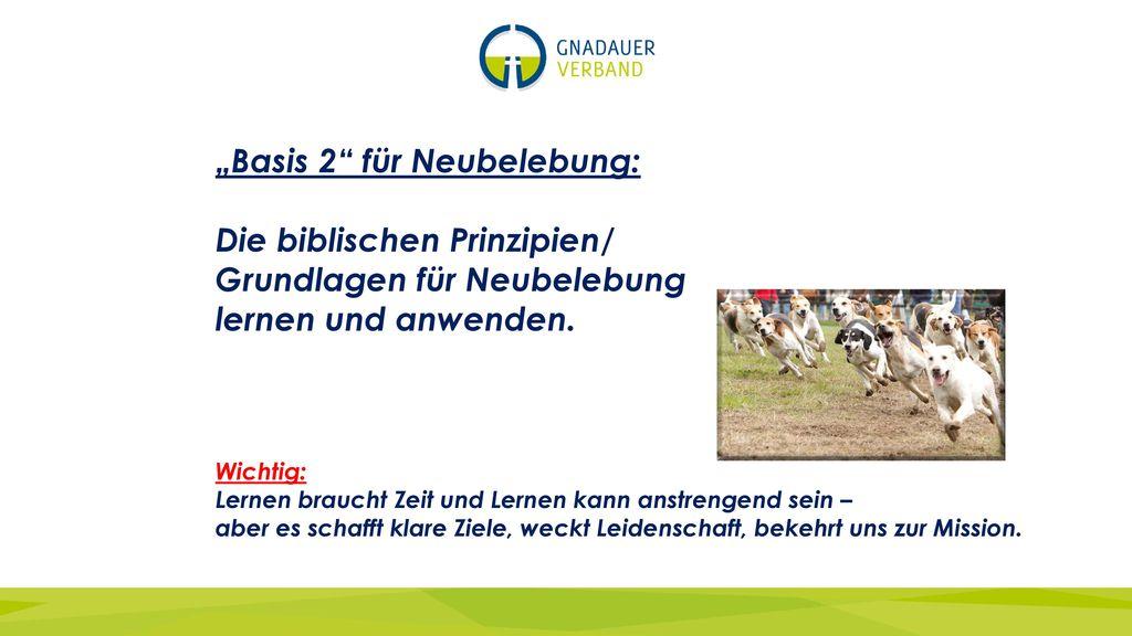 """""""Basis 2 für Neubelebung: Die biblischen Prinzipien/"""