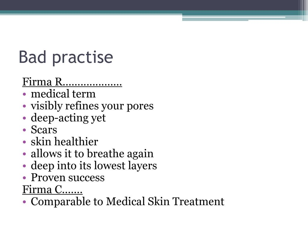 Bad practise Firma R.................... medical term
