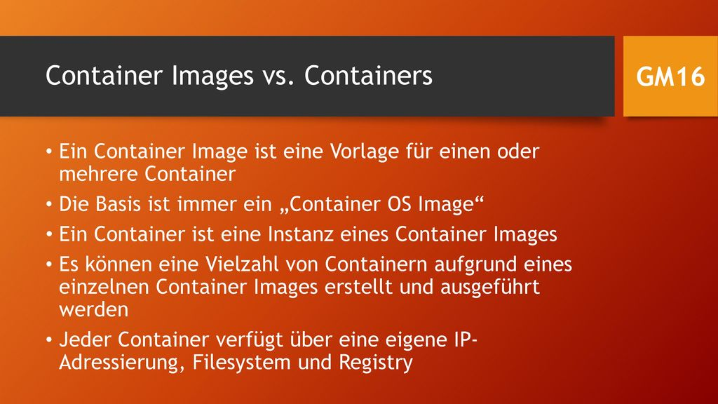 Container Images vs. Containers