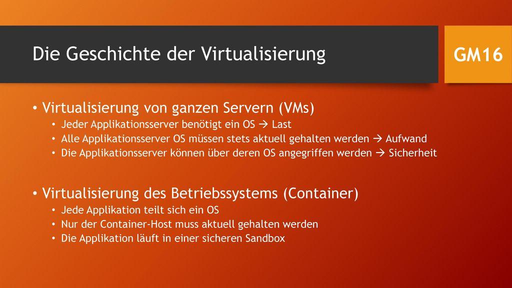Die Geschichte der Virtualisierung