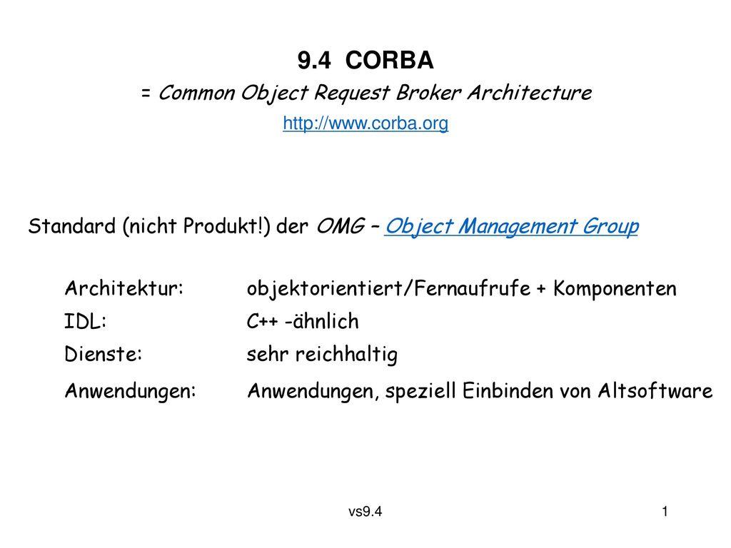 = Common Object Request Broker Architecture