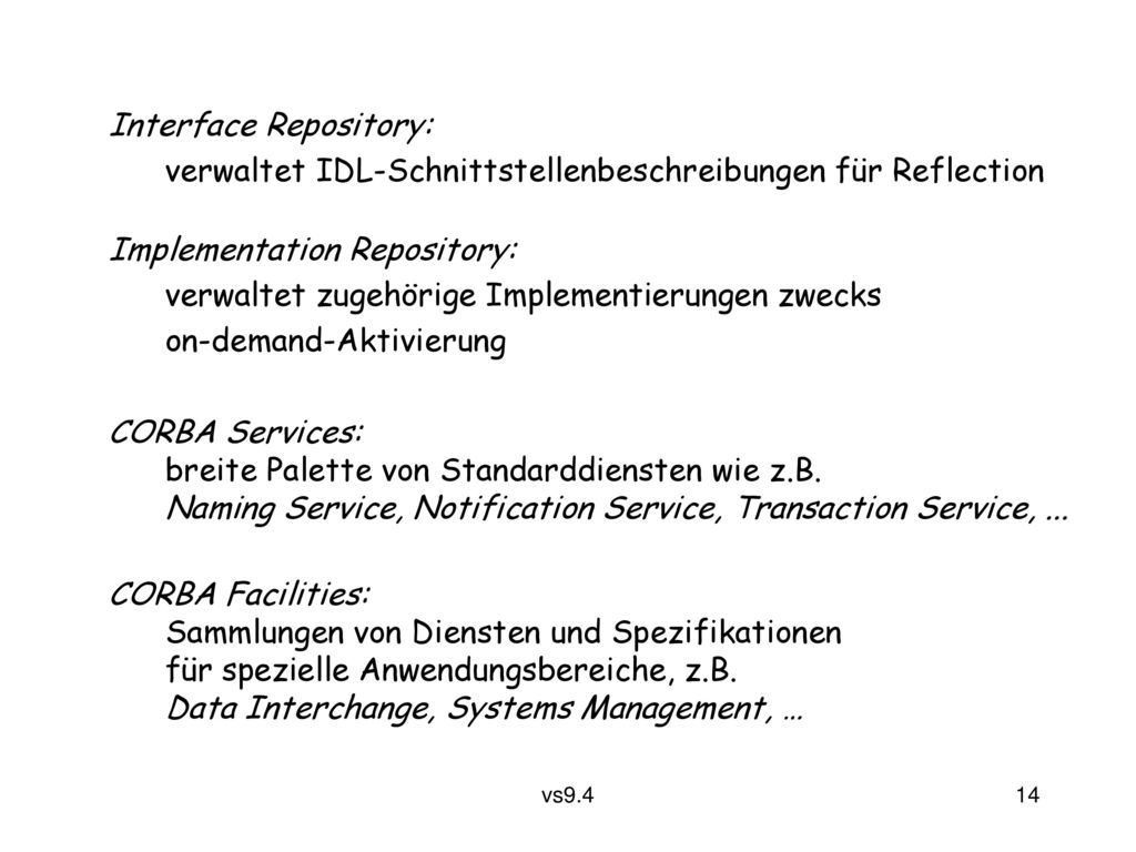 Interface Repository: