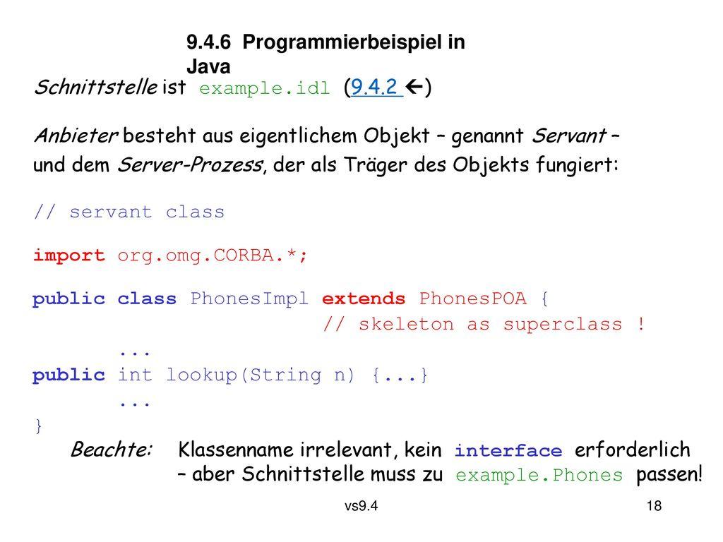 9.4.6 Programmierbeispiel in Java