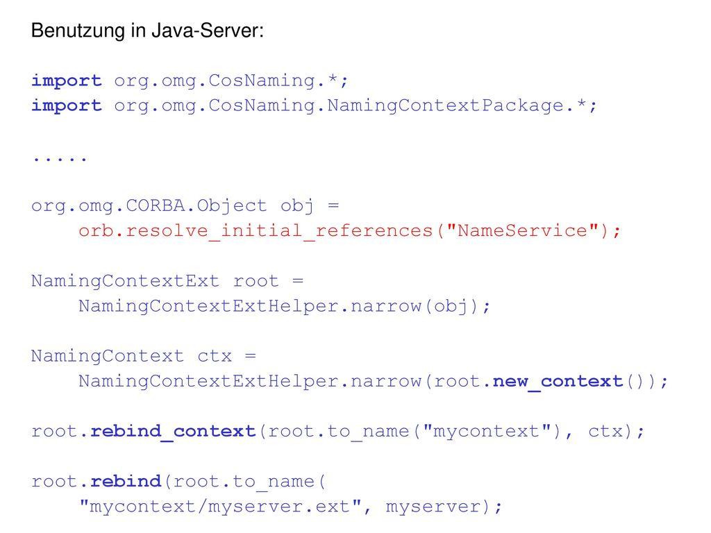 Benutzung in Java-Server: