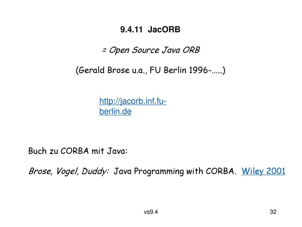 (Gerald Brose u.a., FU Berlin 1996-.....)