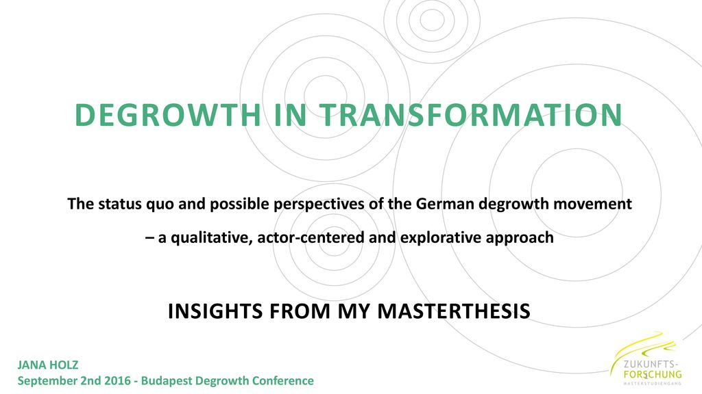 DEGROWTH IN TRANSFORMATION
